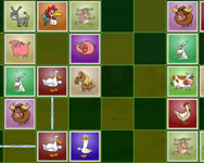 Farm animals matching puzzles online